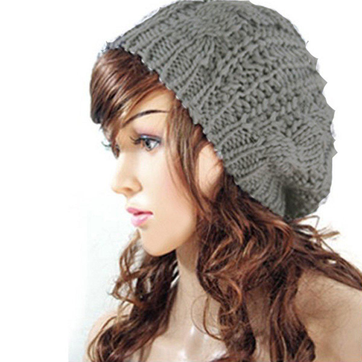 0f0f092d8dd 2019 NEW Women Baggy Beret Chunky Knit Braided Beanie Hat Cap Light Grey  From Fragmentt