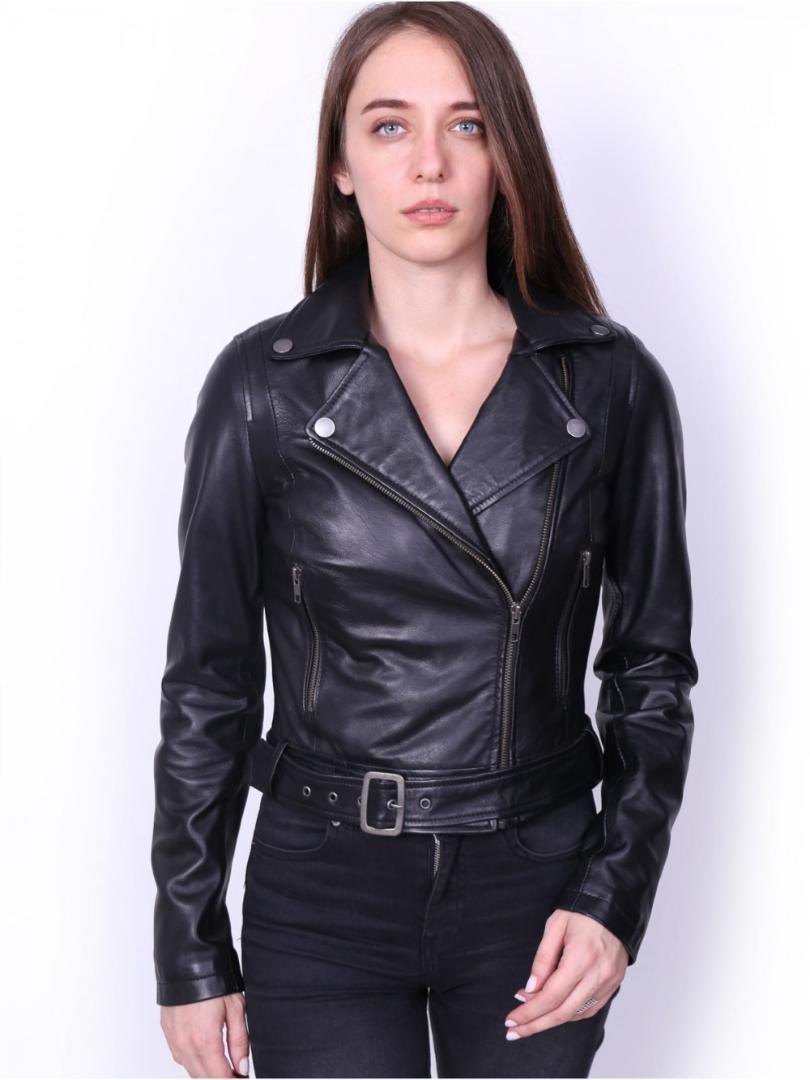 sale retailer 6bf44 be770 VAINAS Giubbotto in pelle da donna di alta qualità per donna Giubbotto in  vera pelle Giacche da moto Giacche da moto