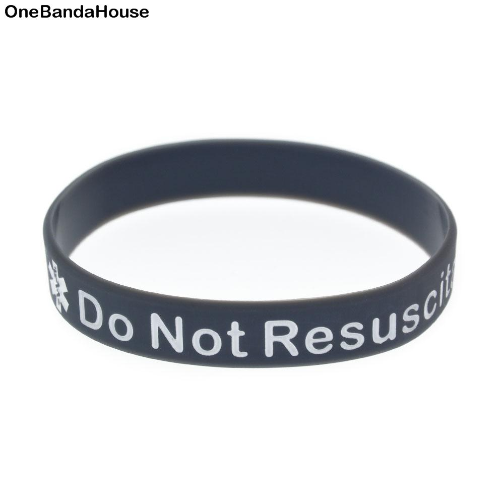 2019 Wholesale In Case Emergency Do Not Resuscitate Silicone Wristband Ink  Filled Logo Bracelet 4Colours From Matchgift, $31.48 | DHgate.Com