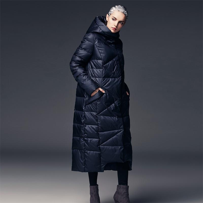extra long duck down coat hooded loose plus sizes elegant new winter jacket women womens jackets and coats 2016 parka designer