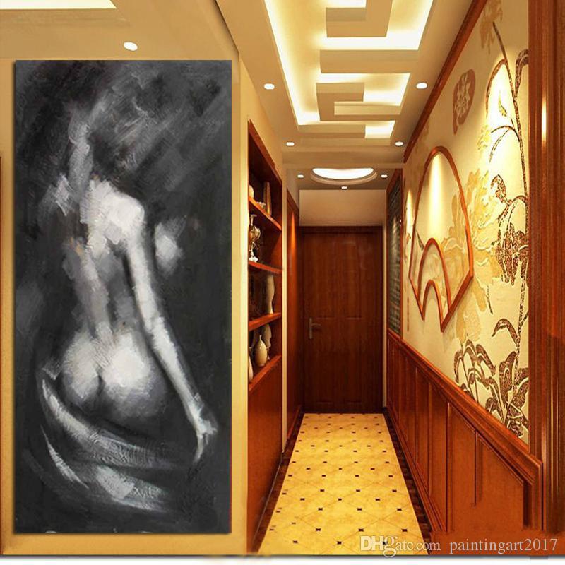 Handgemalte nackte Frauen Portrait Ölgemälde auf Leinwand handgemachte schöne Frau abstrakten Stil keine umrahmt