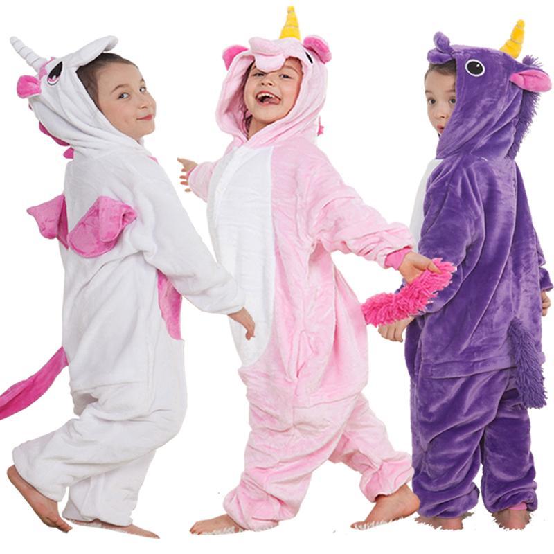 7522be64f6977 Acheter Pyjama Licorne Enfants Pyjamas Pour Filles Pijama Peignoir Cosplay  Anime Animal Enfants Onesie Garçon Fille Dormeurs Polaire Flannelle  Y18103008 De ...