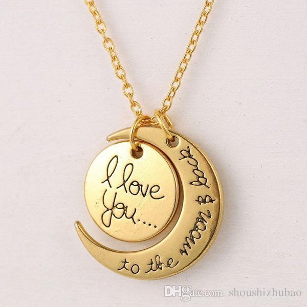 2017 7Styles I Love You To The Moon and Back Necklace Lobster Clasp Hot Pendant Necklaces