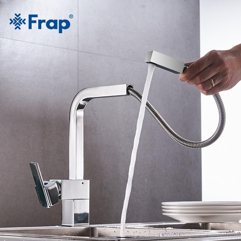 2019 Frap Kitchen Faucet Brass Hot And Cold Water Kitchen Sink