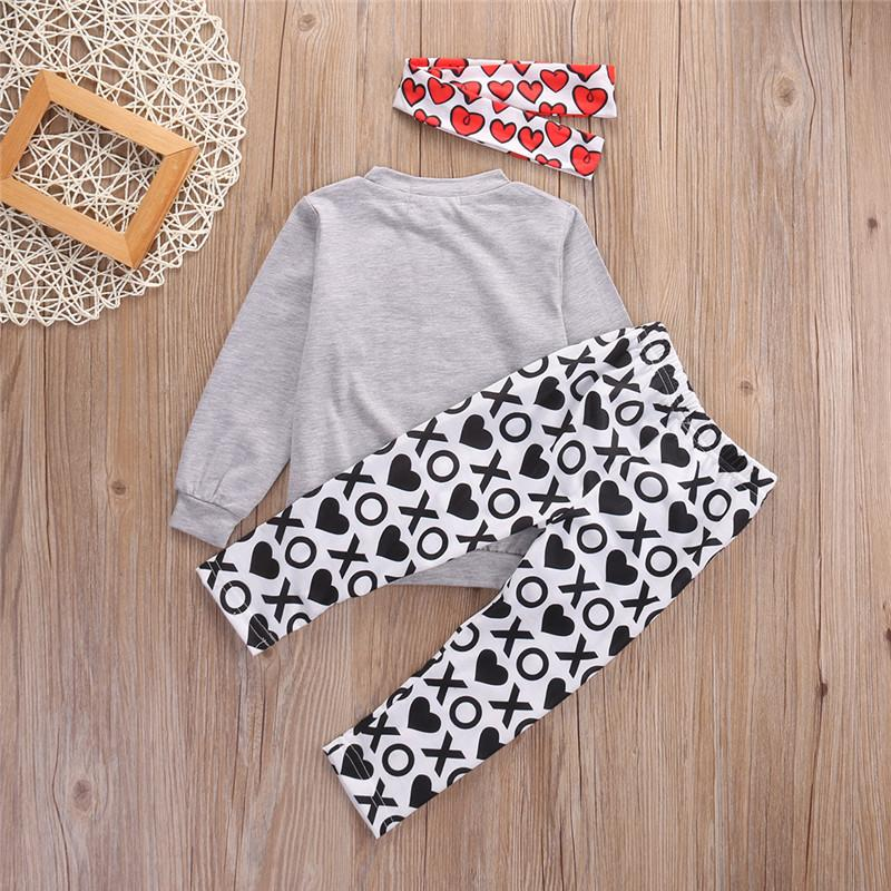 Hot sell Toddler Baby Kids Girls Clothes Long Sleeve ladybug Shirt Tops+XO Pants Outfit Clothing Set