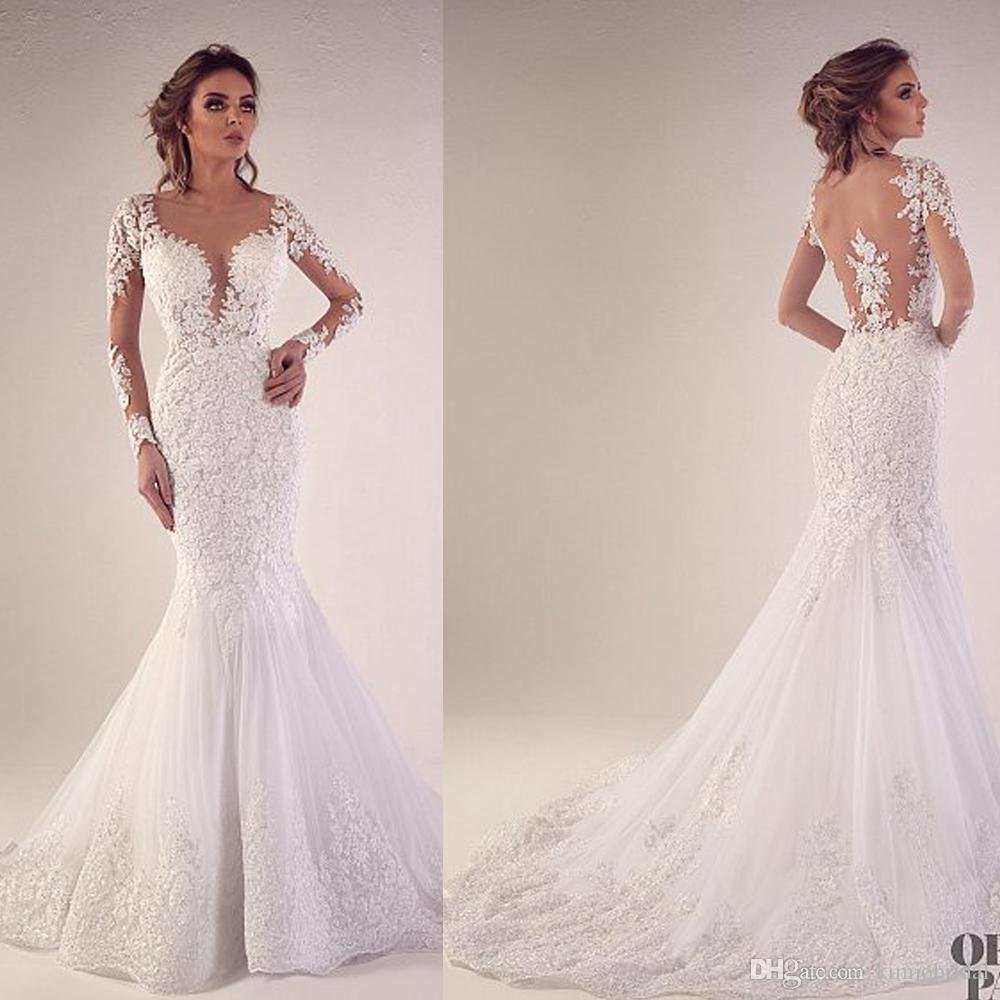 Wedding Dresses With Sweetheart Neckline And Sleeves: Mermaid Wedding Dresses Sweetheart Neckline Long