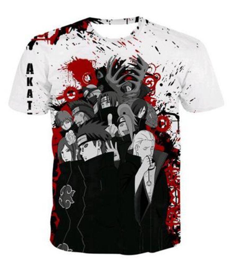 b828ce139 La más nueva moda Anime Naruto Akatsuki camiseta divertida 3D impreso  mujeres / hombres de manga corta camiseta unisex Casual Tops K137