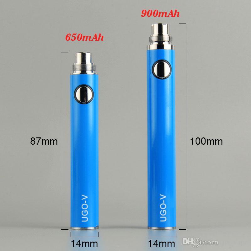 UGO-T UGO-V With ego USB passthrough battery e cigarettes 650mah 900mah 1100mah for ecigs protank CE4 CE5 MT3 eGo Vaporizer Atomizer tanks
