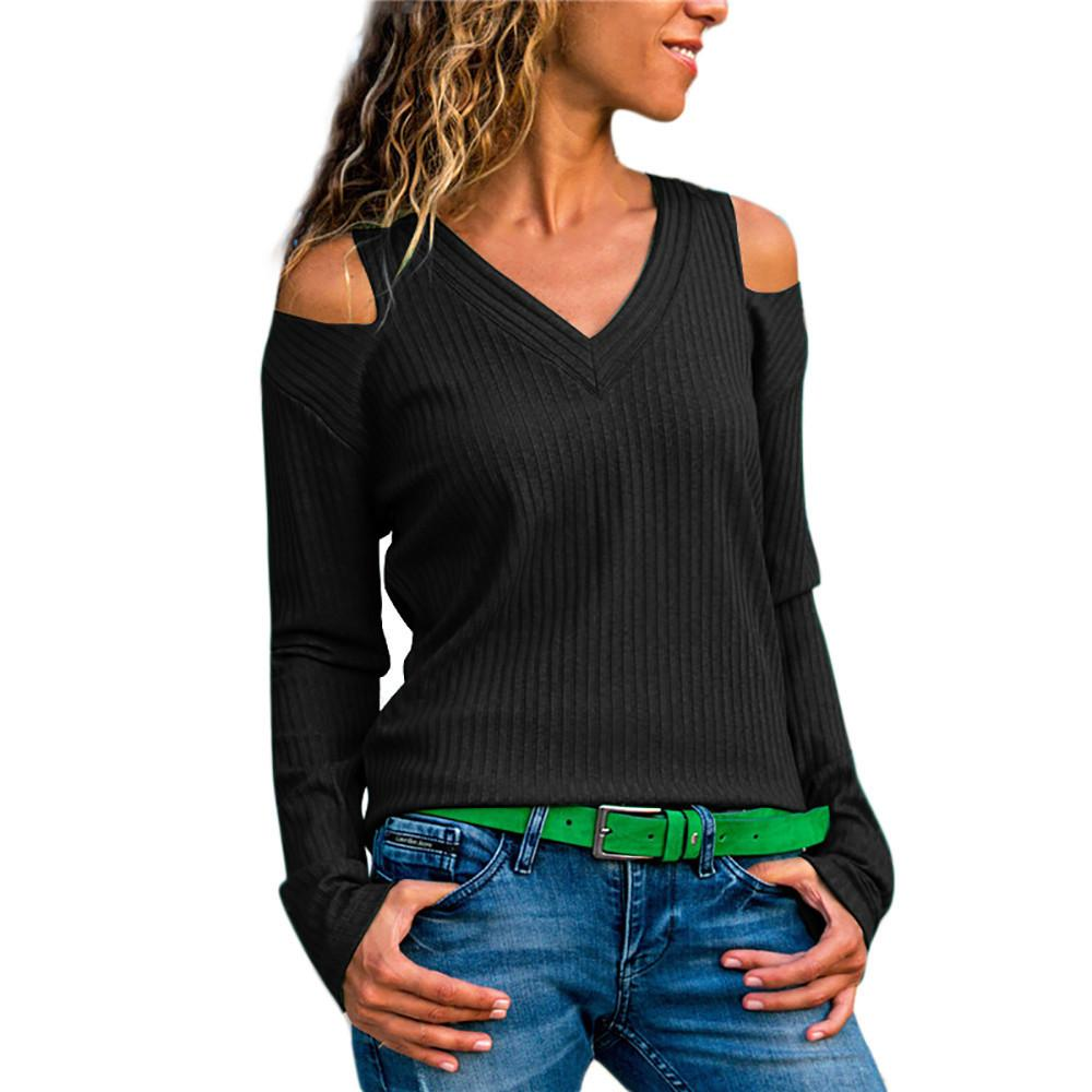 Herbst Winter Große Größe Frauen T Shirt V-ausschnitt Große Größe Spitze Patchwork Solide Camiseta Feminina T Hemd Frauen 2018 Heißer verkäufer