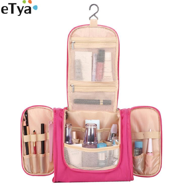 f870f67d72c2 Women Cosmetic Bag Fashion Big Capacity Hanging Unisex Travel Makeup Bags  Washing Toiletry Kits Storage Organizer Bag