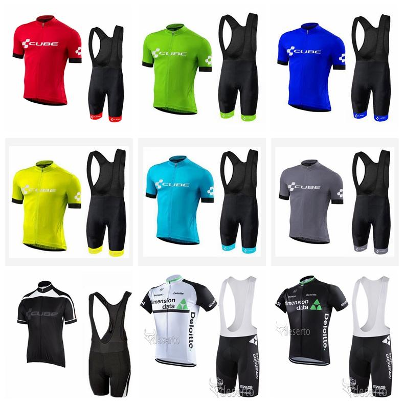 624115b73 CUBE DIMENSION DATA Team Cycling Short Sleeves Jersey Bib Shorts ...