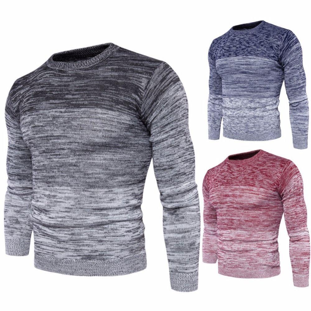 Großhandel 2018 Neue Männer Rundhals Warm Pullover Plus Größe Mode Männer  Langarm Pullover Pullover Für Männer M 3xl Herbst Winter Kleidung Y1892109  Von ... 6543f3b924