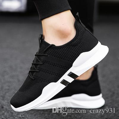 2124b44f377 Spring And Summer Popular Men Fashion Casual Shoes Breathable Male 2018  Sneakers Adult Non Slip Comfortable Footwear Navy Shoes Blue Shoes From  Crazy931
