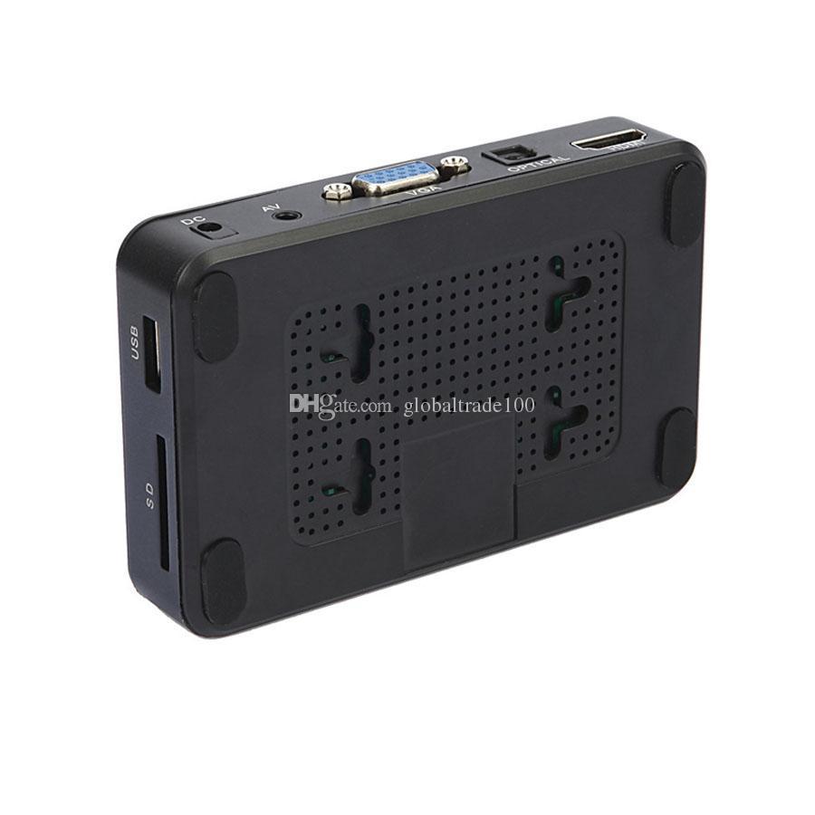 H7 HD Media Player Mini Portable HDD Players Full HD 1080P HDMI VGA AV USB Hard Disk U Disk SD/SDHC/MMC Card