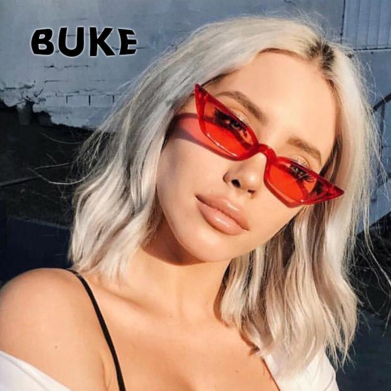 Compre BUKE Óculos De Sol Das Mulheres Olho De Gato Designer De Marca De  Luxo Óculos De Sol 2018 Moda Vintage Vermelho Senhoras Sunglass UV400 Gafas  De Sol ... 07f5096d8c