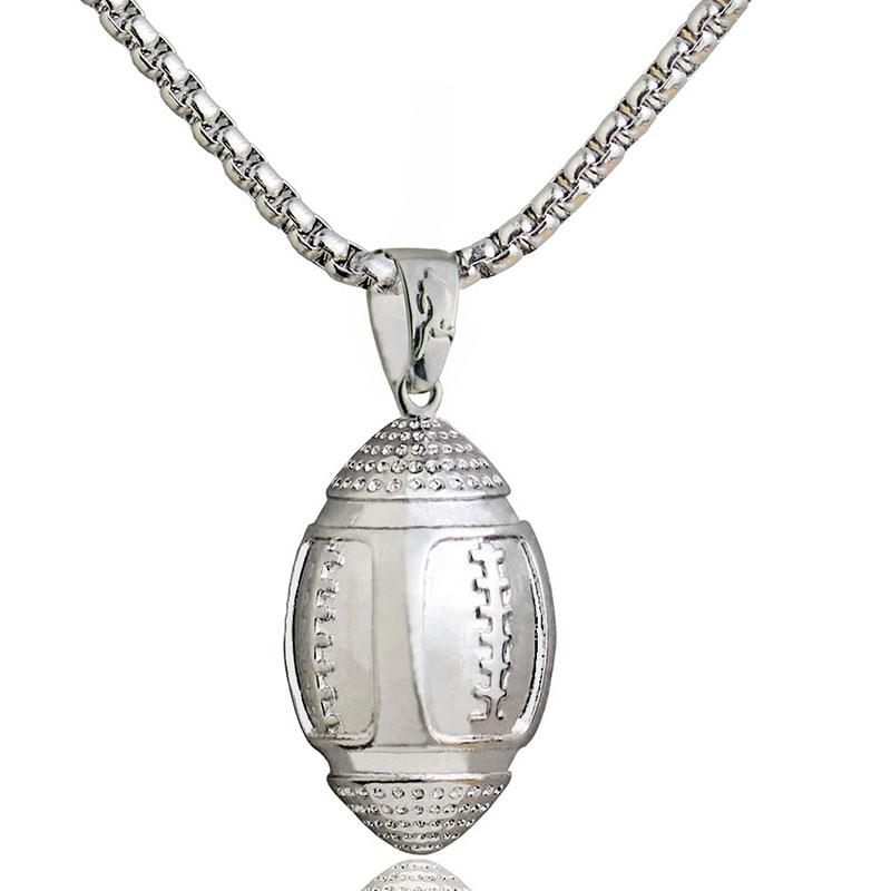 Wholesale 3d american football ball pendant necklace men sports wholesale 3d american football ball pendant necklace men sports charm football games necklace hip hop jewelry stainless steel chain heart pendants necklaces aloadofball Images