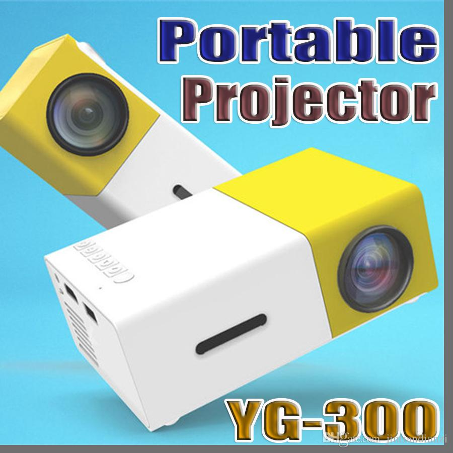 7534ee7c6a536b Best YG300 YG-300 LCD LED Portable Projector Mini 400-600LM 1080p Video 320  X 240 Pixel Media LED Lamp Player Best Home Protector Cradle Design