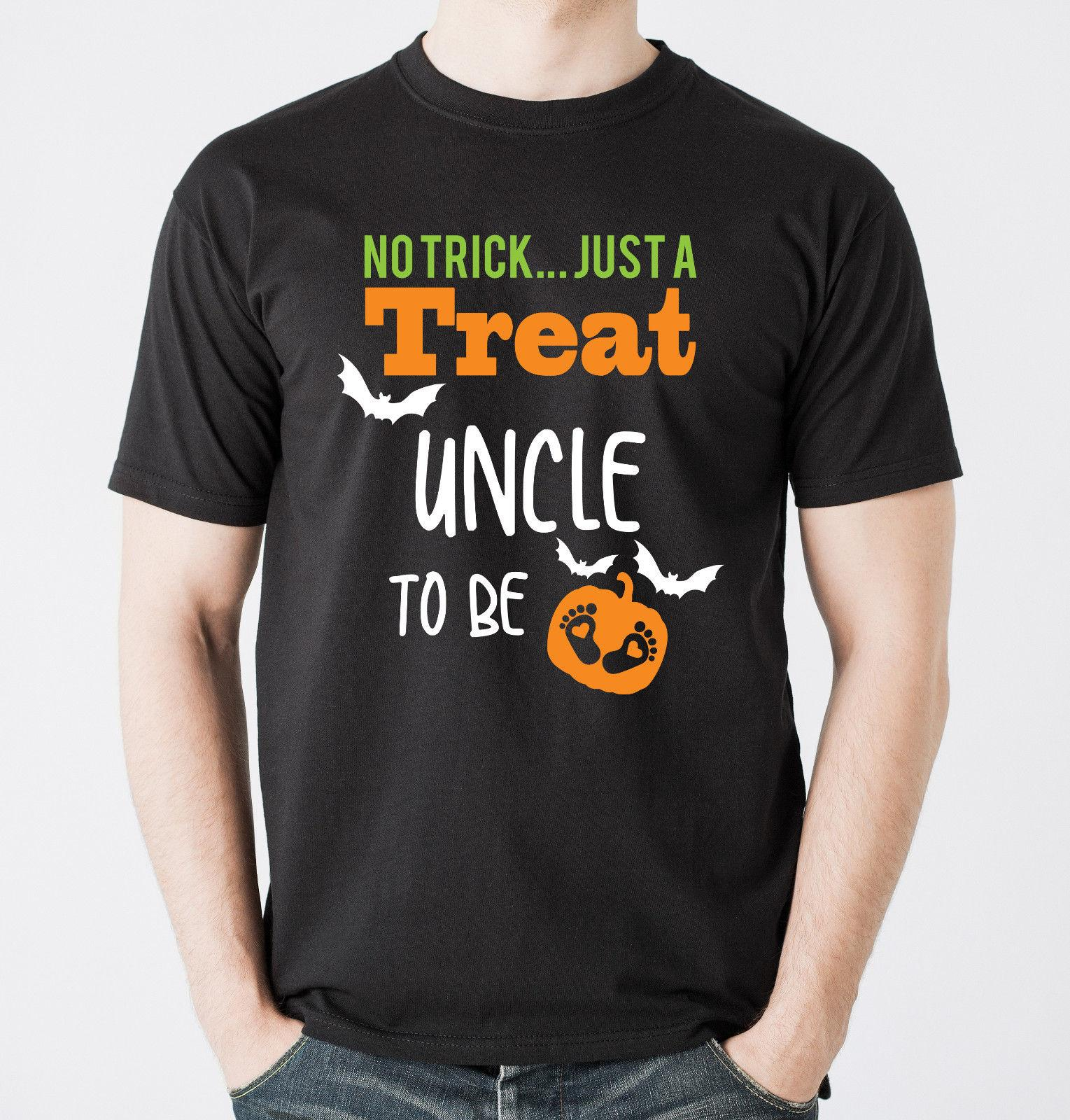 00c24dbe40c64 Halloween Pregnancy Reveal Uncle To Be Black T Shirts Set. Baby Announcement.  Funny Unisex Casual Funny Tshirts Long Sleeve Shirts From Fantees, ...