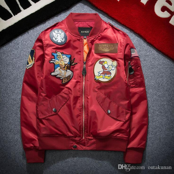 201294170 Chinese style cranes Printing Designer Bomber Jackets Mens New Satin  Fabrics Stand Collar Varsity hip hop coat Jacket baseball uniform_A41