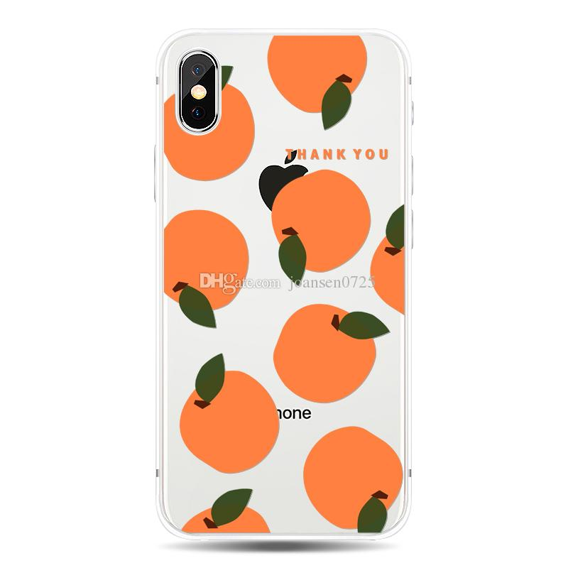Phone Case For iphone X 6 6S 7 8 Plus 5S Samsung Galaxy S7 Edge S8 S9 Plus Note 8 Summer Beauty Fruits Soft TPU painted Back cover shell