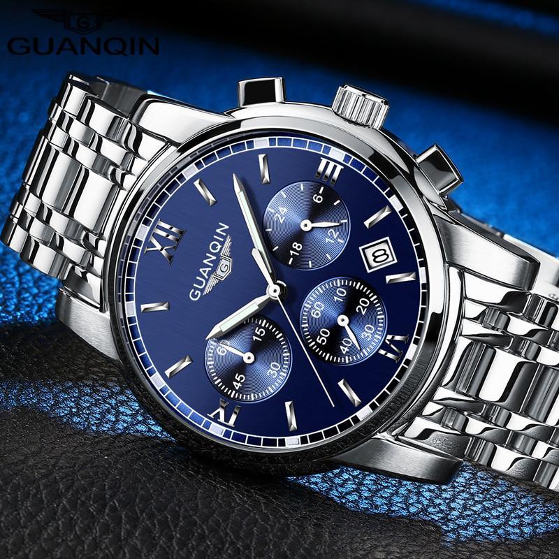 a5b8aba8fec0 Compre Relogio Masculino GUANQIN Relojes Para Hombre De Primeras Marcas De  Lujo Moda Negocio Negocio Reloj De Cuarzo Hombres Deporte Reloj De Pulsera  ...