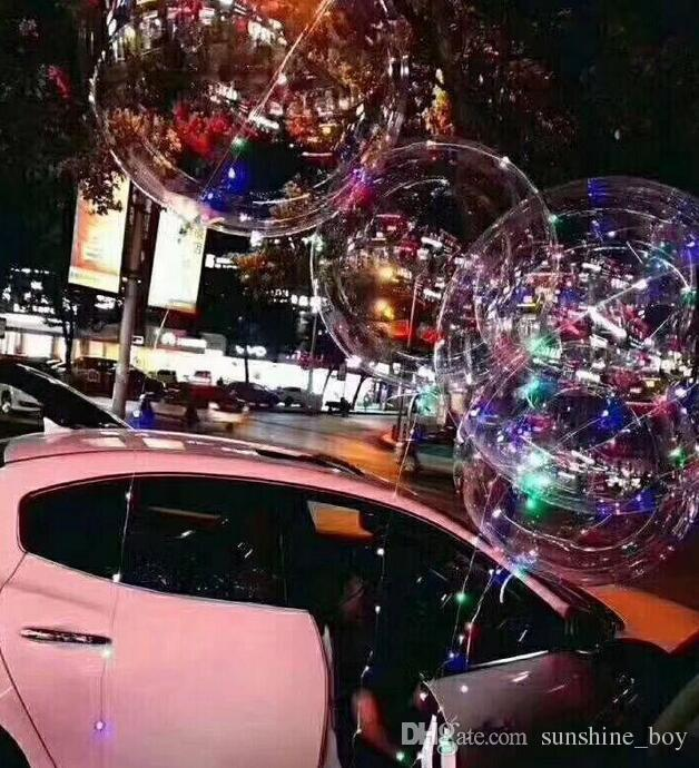 2018 new bobo ball wave led line string balloon light with battery for Christmas Halloween Wedding Party children home Decoration
