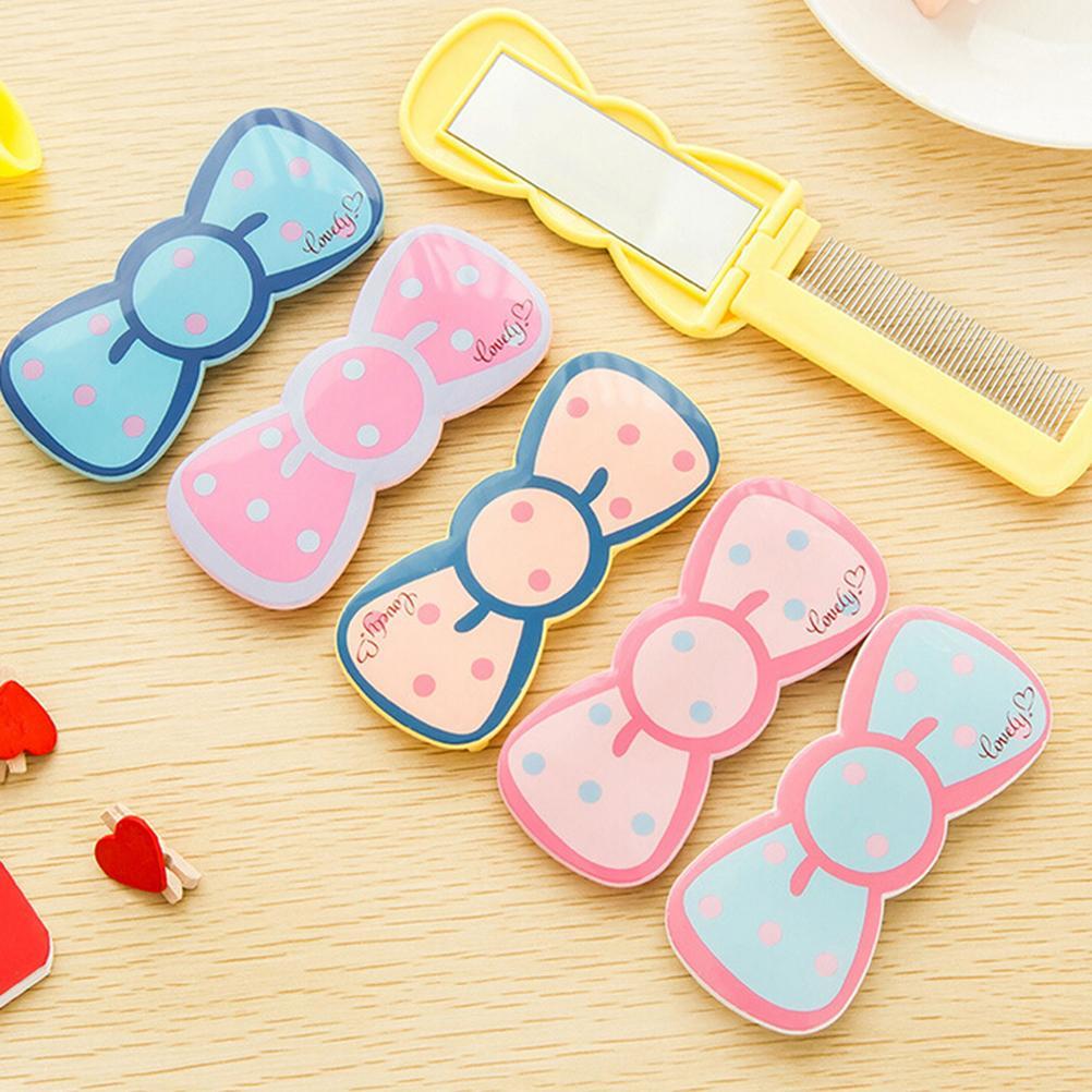 Haut Pflege Werkzeuge Mini Kosmetikspiegel Mit Kamm Tragbaren Hand Cartoon Tier Muster Tasche Weißblech Kosmetikspiegel