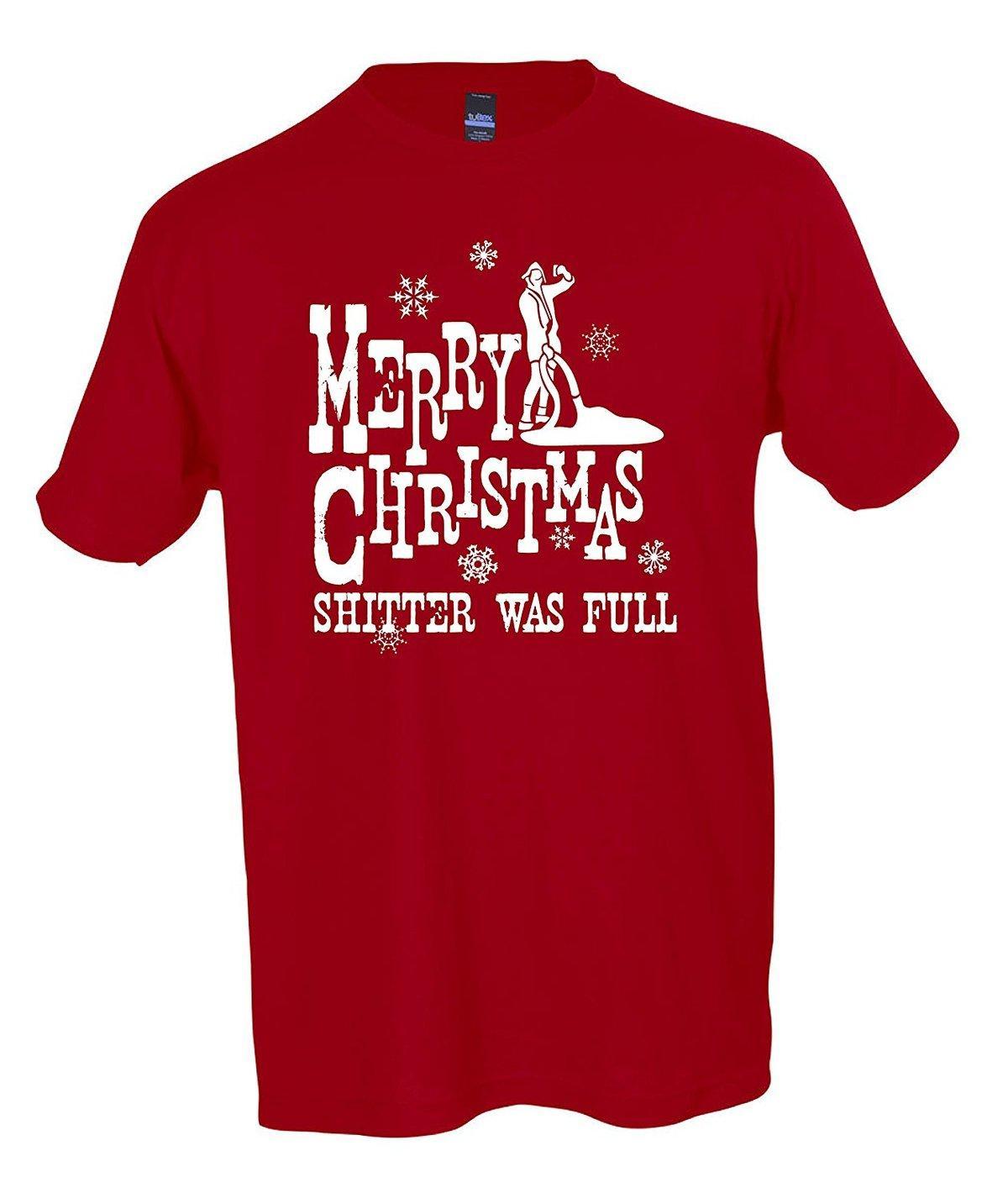 merry christmas shitter was full t shirt national lampoons christmas vacation cartoon print short sleeve t shirt 10 t shirts cool shirts designs from
