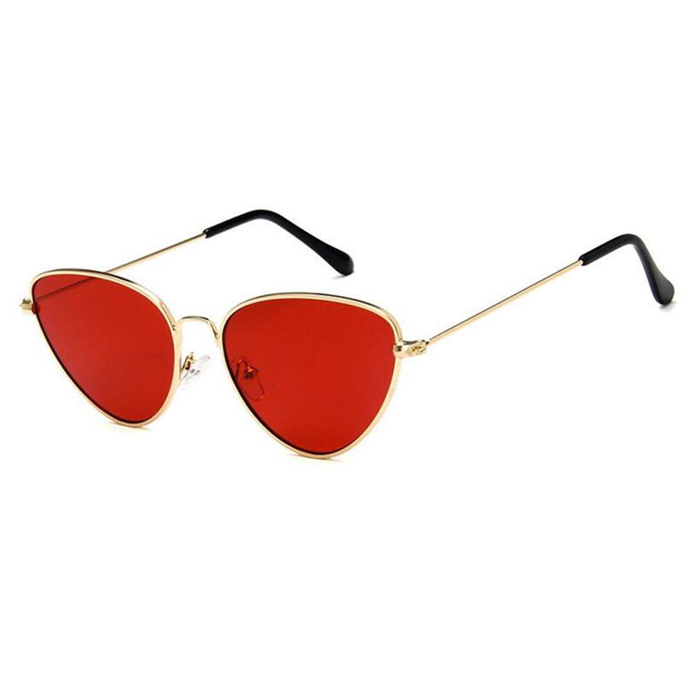 Compre Mulheres Por Atacado Do Vintage Olho De Gato Óculos De Sol De Ouro  Vermelho Metal Aro Completa Ao Ar Livre Retro Óculos De Sol De Meinuo009,  ... d4e1ec9222