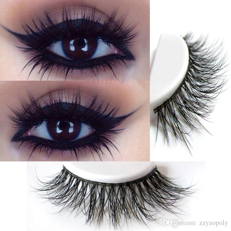 9c97062b668 3D Mink Eyelashes Private Logo Handmade Lashes Thick Natural False  Eyelashes For Beauty Makeup Fake Eye Lashes Private Label 3d Mink Lashes  Hollywood Lashes ...