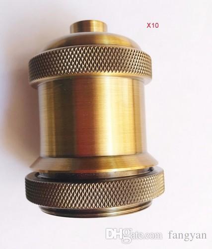 Vintage Chandelier Gold Head E27 Spider Lamp Chandelier Lampholder Edison Crafts Lighting Lamps Buckingham Electric Wire Eliminating Bulbs