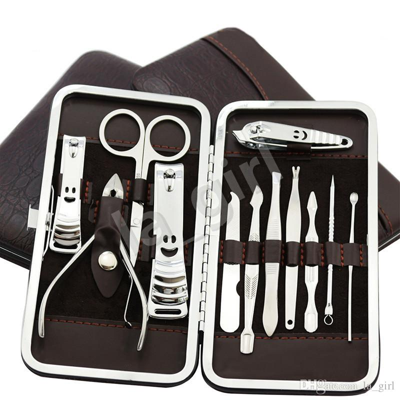 un set in acciaio inox Nail Manicure Pedicure Strumenti Nail Clippers Personale professionale Grooming Kit Drop Shipping
