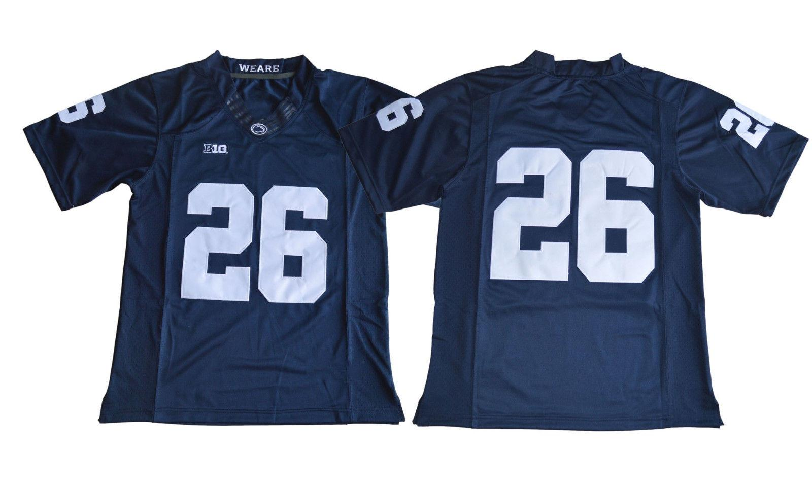 e67c5f10c Cheap Custom 2018 Draft No.2 Saquon Barkley 26 College Football Jersey Blue  Stitched Customize Any Number Name MEN WOMEN YOUTH XS 5XL UK 2019 From ...