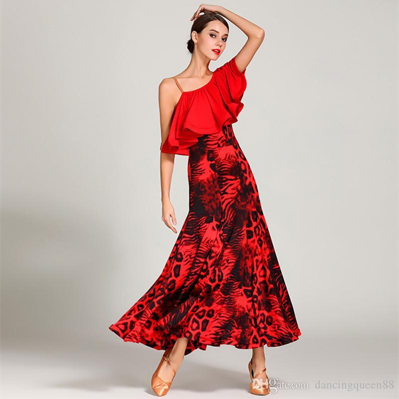 2019 2019 Dancewear Woman Ballroom Waltz Dance Dress Foxtrot Spanish Flamenco  Dress Dance Wear Green Dancing Clothes Standard Social Dress From ... 50e7231f4