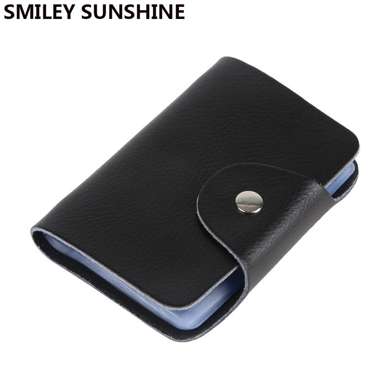 smiley sunshine genuine leather business card holder bank id holder men wallet case protector women cardholder cheap purses cheap handbags from universe111 - Business Card Holder For Men