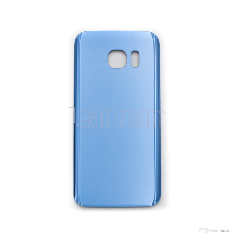 Couvercle en verre de couvercle de la batterie de la batterie arrière d'origine pour Samsung Galaxy S7 G930f S7 Edge G935f avec autocollant adhésif gratuit