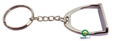 Wholesale-Free shipping horse stirrup key chain,gift,key ring,key holder,silver color,giveaways.(K006C)