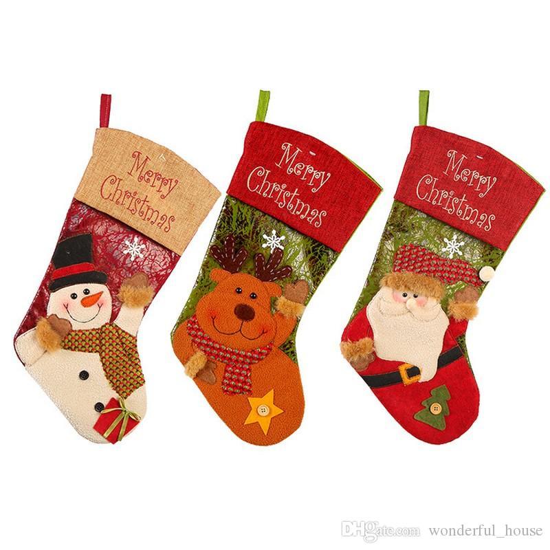 Großhandel Weihnachtsgeschenk Beutel Socken Weihnachtsbaum ...