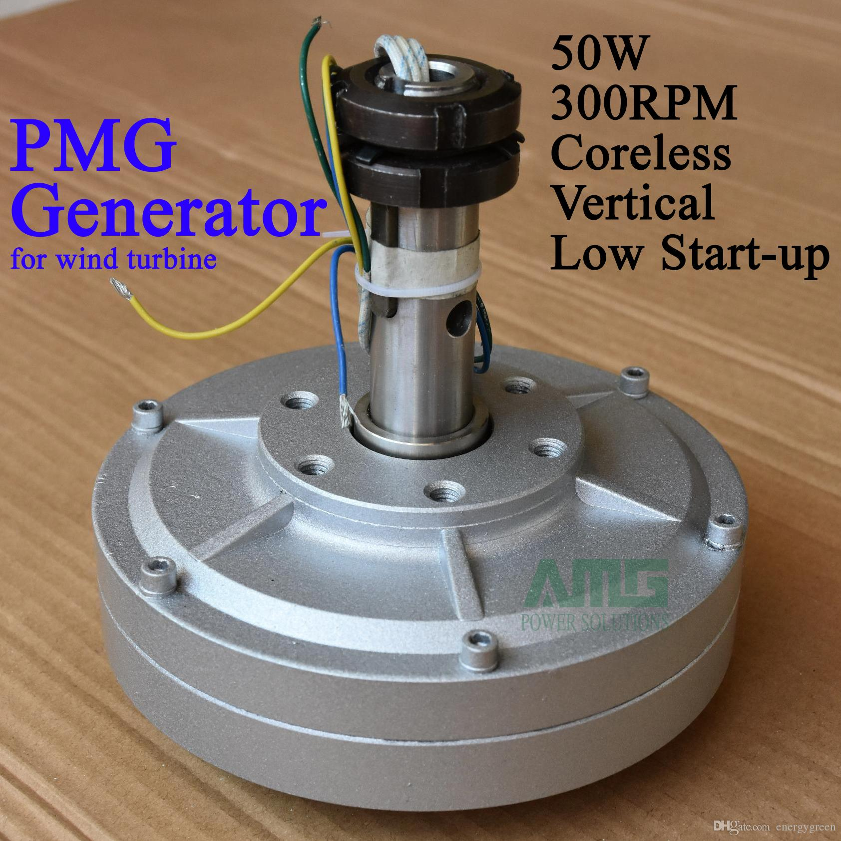 50w 300rpm 12 24vdc Low Speed Low Start Up For Diy Permanent Magnet