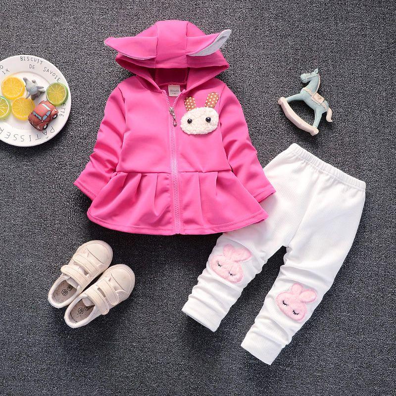 b732f07a6263 2019 Cola Baby Girls Spring Autumn Clothing Sets Cartoon Rabbit ...