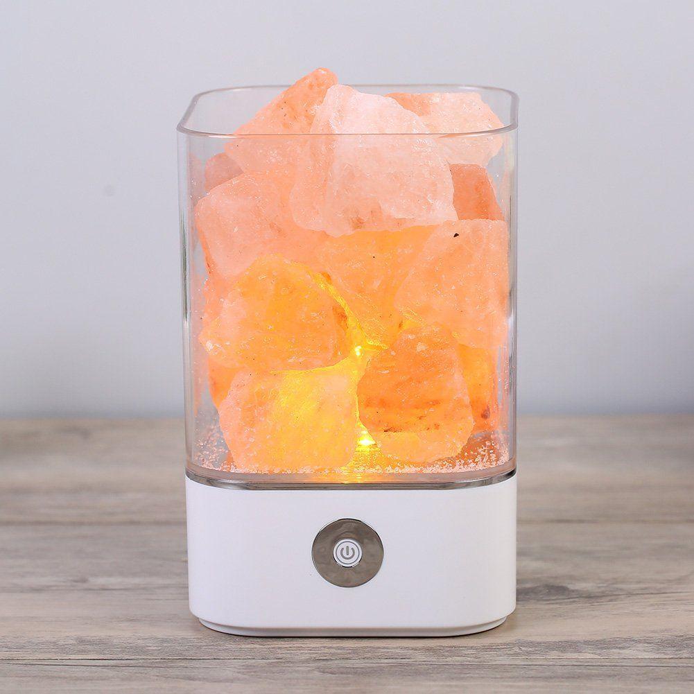 Großhandel Natürliche Himalaya Salz Lampe USB Salz Kristall Rock ...