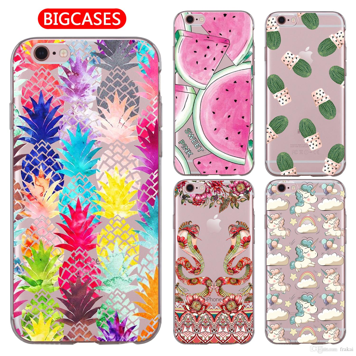 For Iphone Xs Max Xr X 8 7 6 6s Plus 5 5s Se Case Soft Tpu Silicone Cute Color Pineapple Phone Cover Phone Covers Make Your Own Phone Case From Frakai