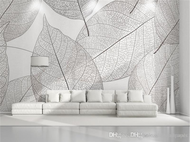 Custom 48d Photo Wallpaper Murals Modern Minimalist Leaves Nature Beauteous Home 3D Design Online Minimalist