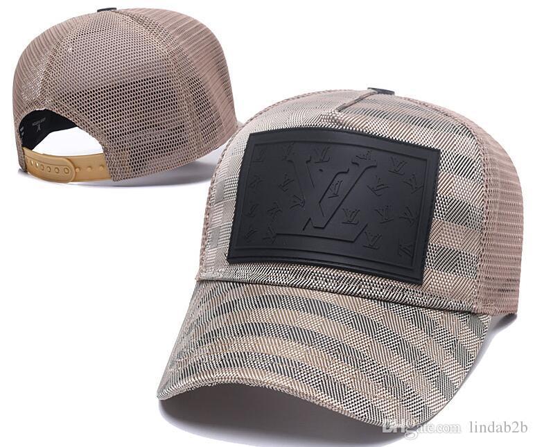 e92e3134efe57 2019 2019 France Brand V Uitton Mens Designer Hats Mesh Baseball Caps  Luxury Lady Fashion Hat Trucker Casquette Women Causal Ball Cap 02 From  Lindab2b
