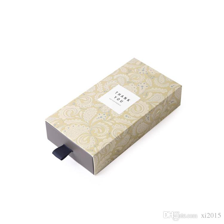 High Grade Paperboard Drawer Gift Boxes Tea Handmade Soap Packaging Box 8.5*16.5*3.5CM wen6584