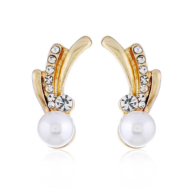 79c1a1698 2019 Fashion Rhinestones New Gold Earrings Korean Trend Jewelry ...