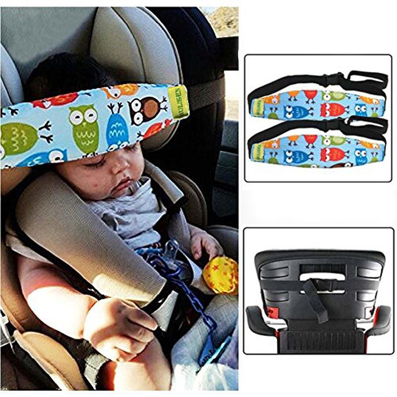 Infants Baby Toddler Head Support For Car Seat Belt Band Carseat Straps Covers Children Slumber Sling Safety Sleep Holder