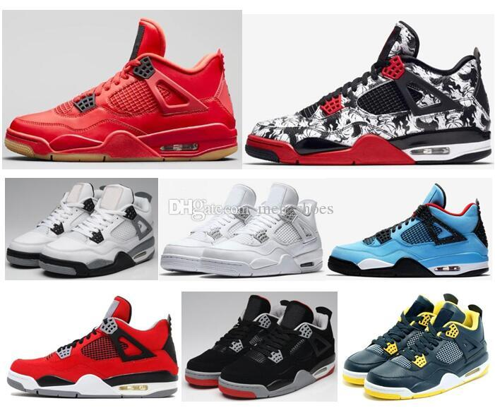 77c4243c21411d High Quality 4 4s Tattoo Graffiti Singles Day Red Basketball Shoes Men  Women Alternate Motorsport Dunk From Above Sneakers With Box Walking Shoes  Shoes ...