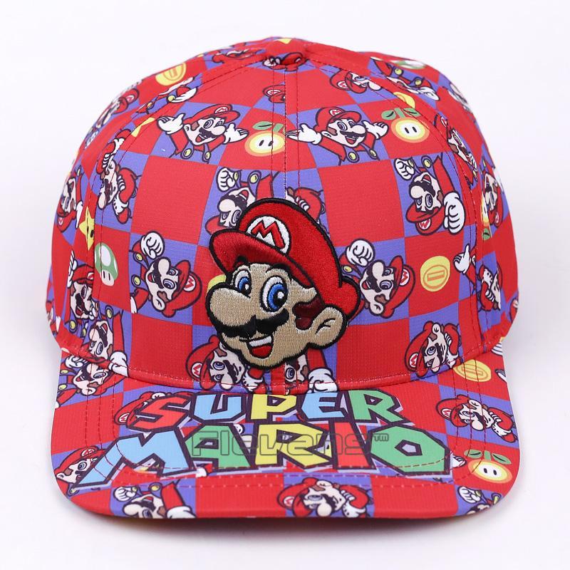 234031626b0 Super Mario Bros Fashion Baseball Cap Mario Embroidery Cartoon Boys Men Sun  Hats Flat Snapback Caps Cap Shop Flexfit Caps From Jianyue16