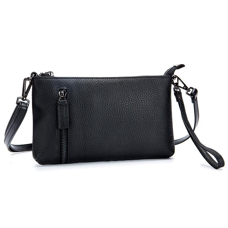 42597a8e0474 ... 2018 Genuine Leather Women Crossbody Bags Zipper Messenger Bags High  Quality Fashion Female Shoulder Clutch Handbag ...